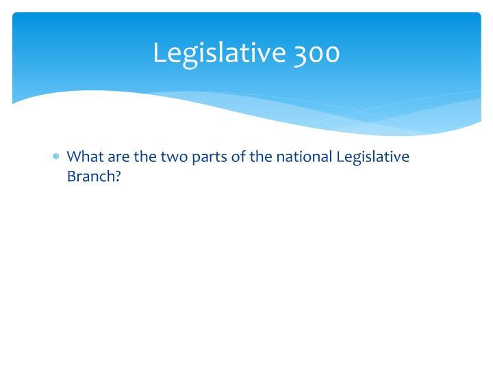 Legislative 300