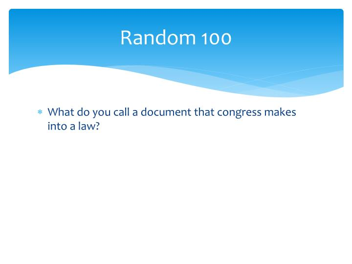 Random 100