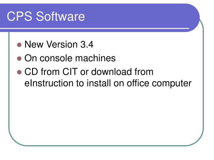 CPS Software