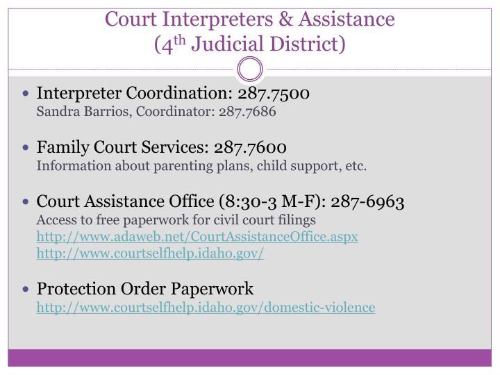 Court Interpreters & Assistance