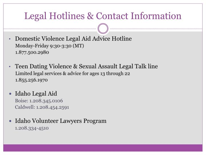 Legal Hotlines & Contact Information