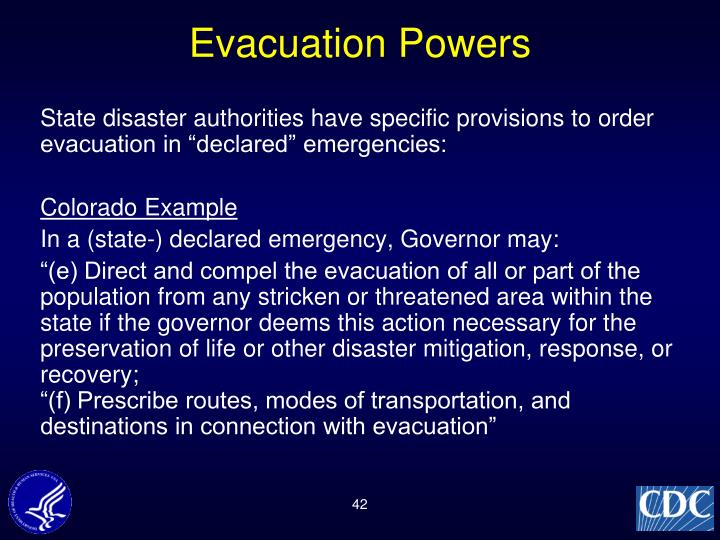 Evacuation Powers