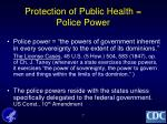 protection of public health police power