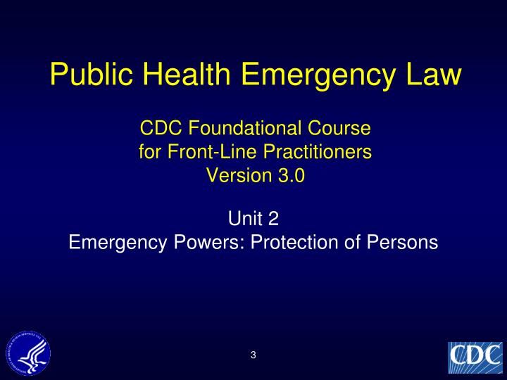 Public Health Emergency Law