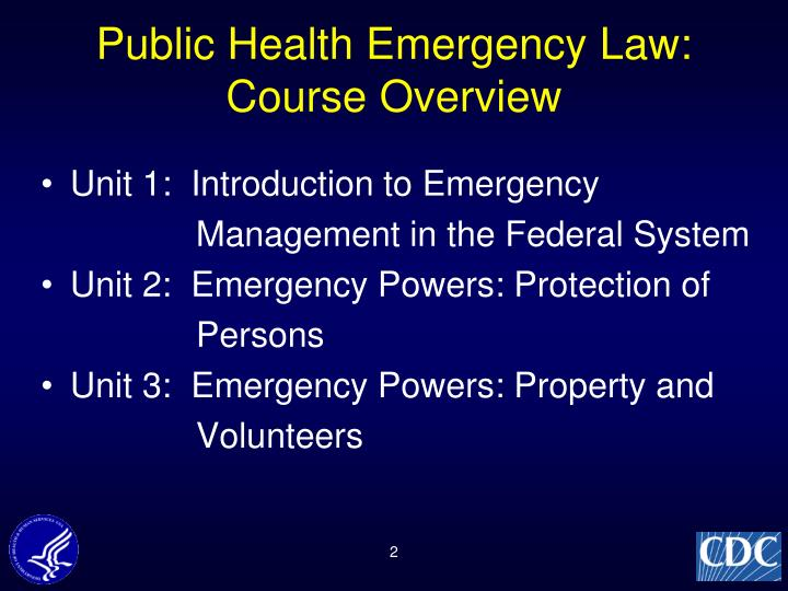 Public Health Emergency Law: