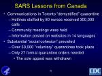 sars lessons from canada