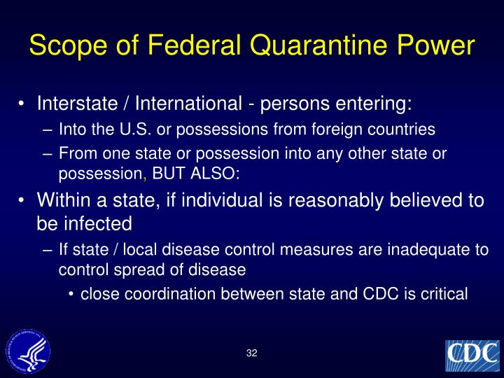 Scope of Federal Quarantine Power