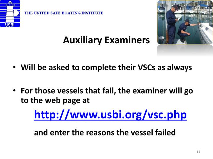 Auxiliary Examiners