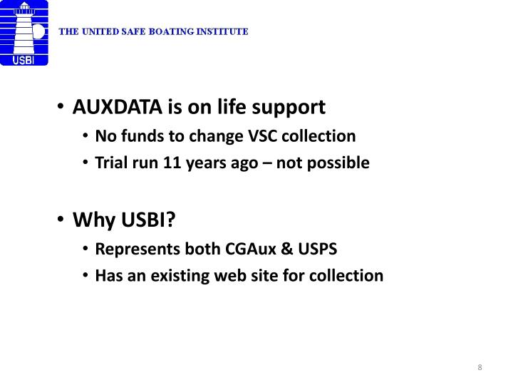 AUXDATA is on life support