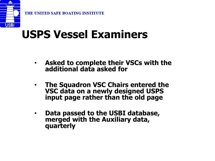 USPS Vessel Examiners