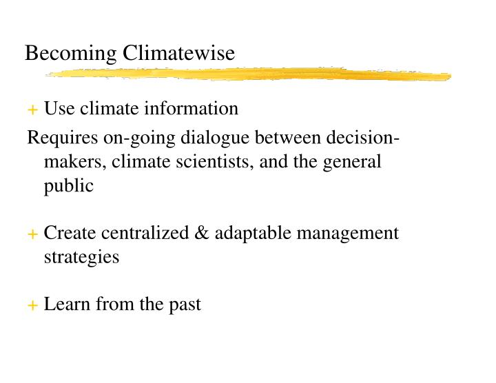 Becoming Climatewise