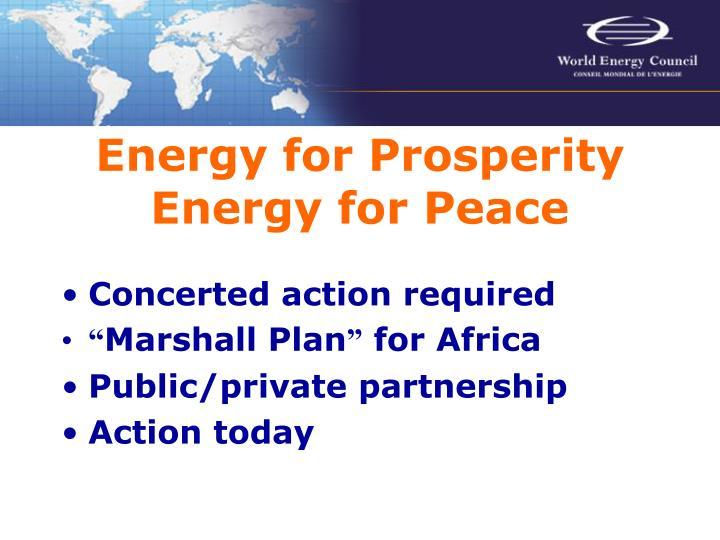 Energy for Prosperity