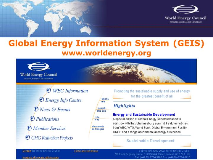 Global Energy Information System