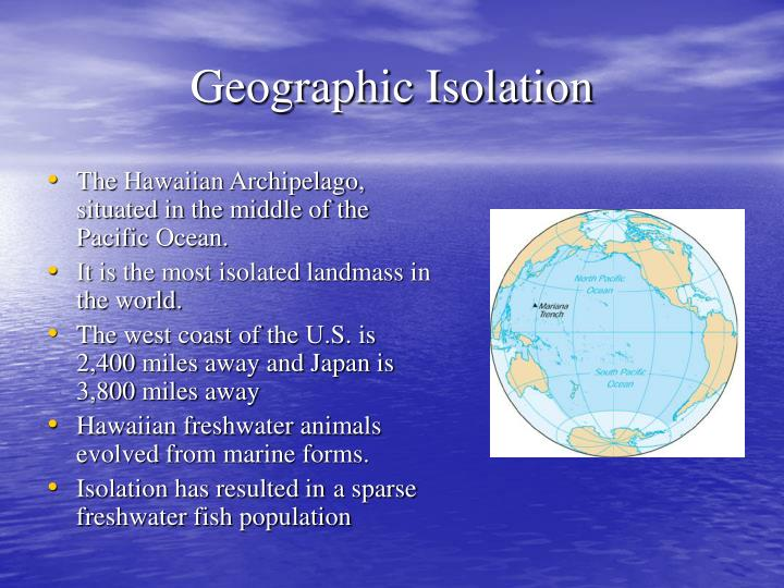 The Hawaiian Archipelago, situated in the middle of the Pacific Ocean.