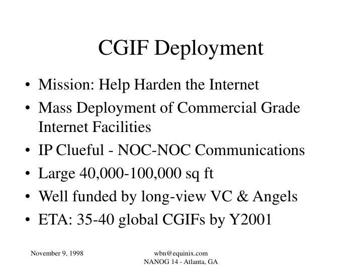 CGIF Deployment