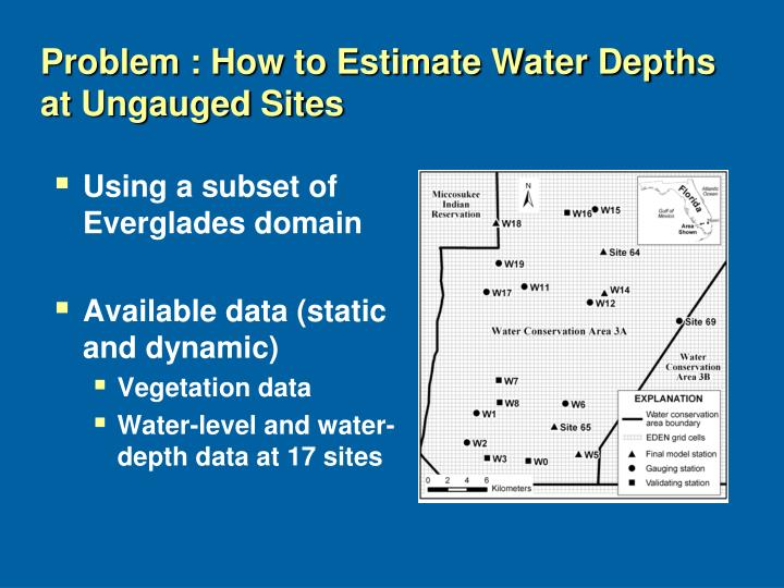 Problem : How to Estimate Water Depths at Ungauged Sites