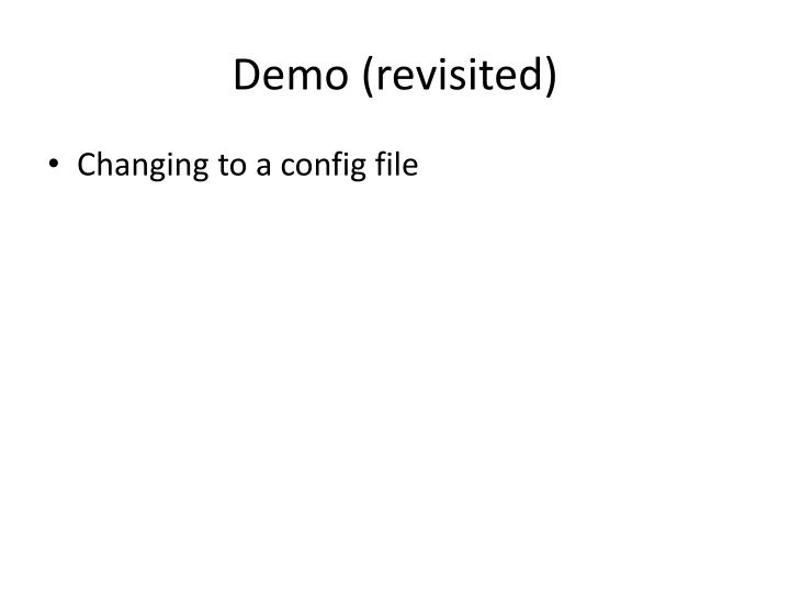 Demo (revisited)
