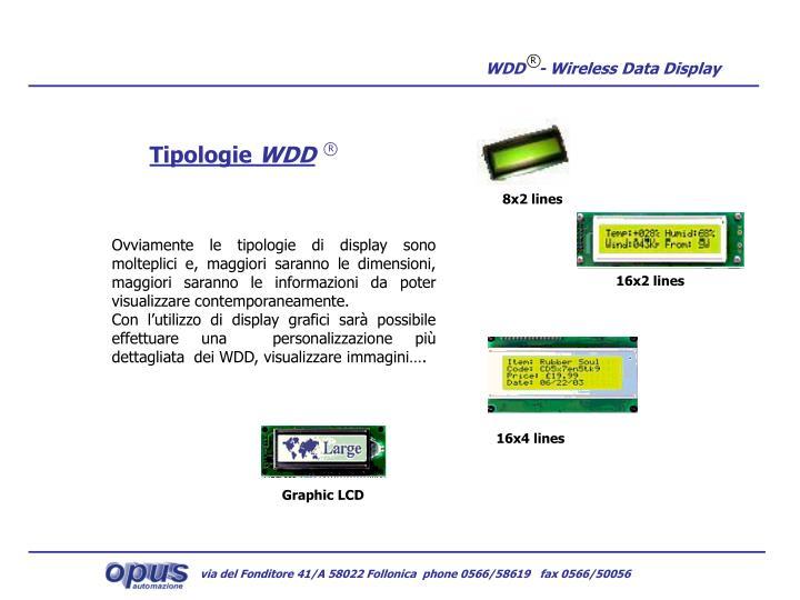WDD   - Wireless Data Display