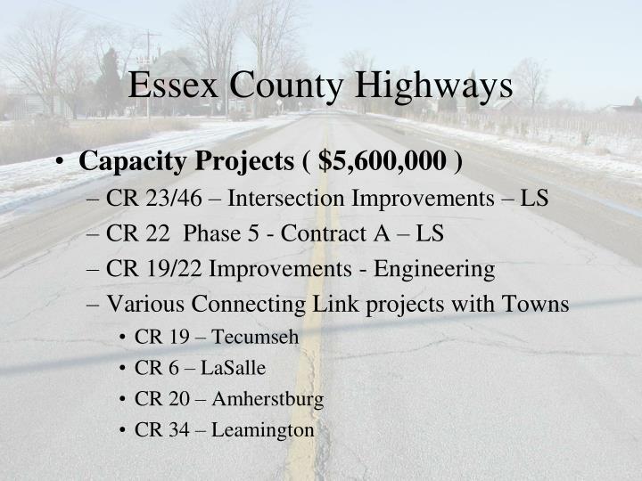 Essex County Highways