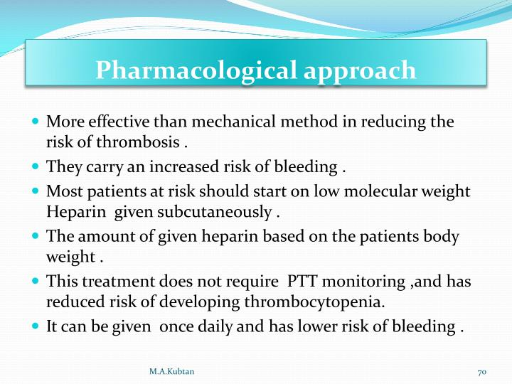 Pharmacological approach