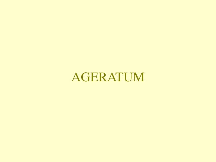 AGERATUM