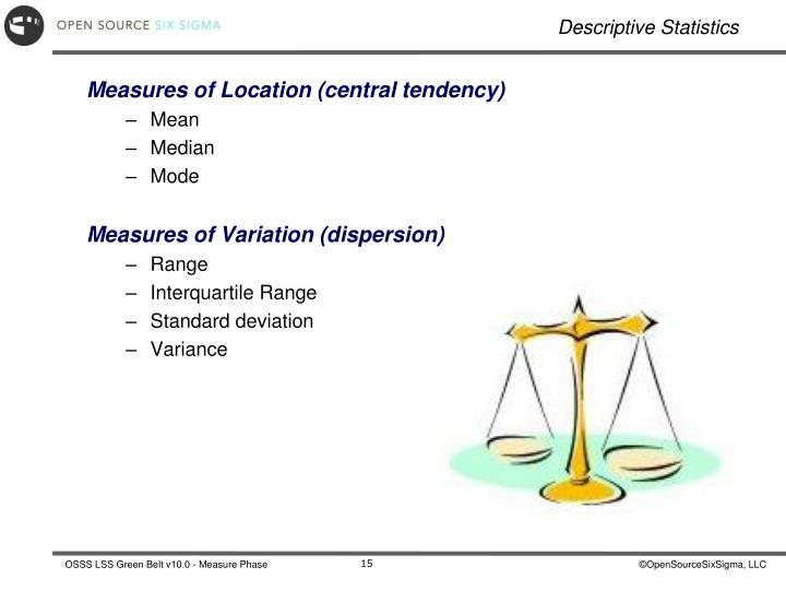 Measures of Location (central tendency)