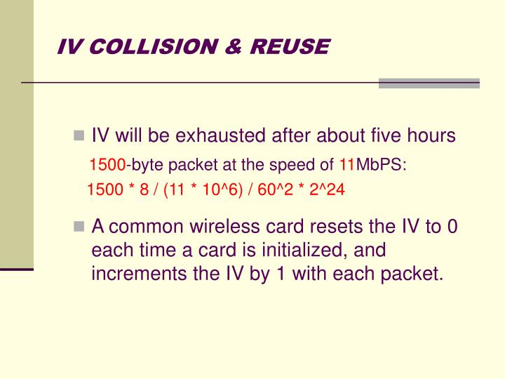 IV COLLISION & REUSE