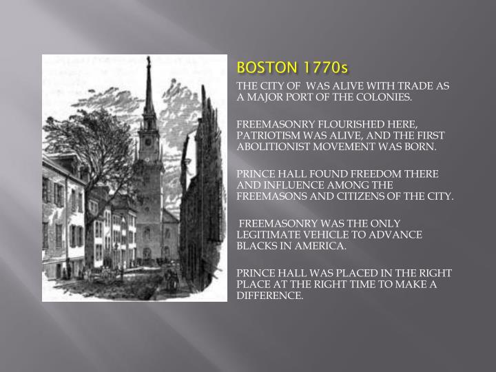 BOSTON 1770s