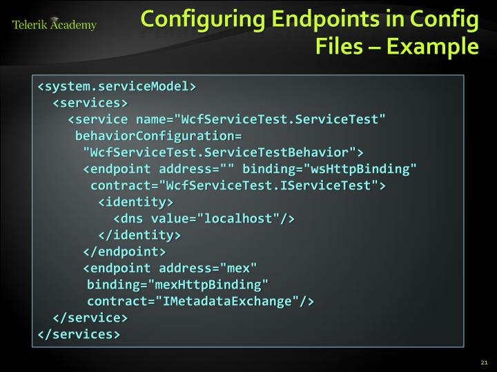 Configuring Endpoints in Config Files
