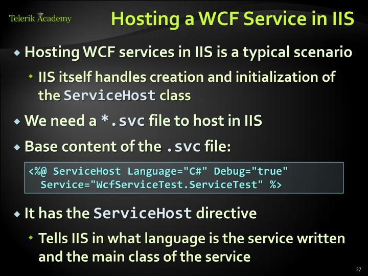 Hosting a WCF Service in IIS