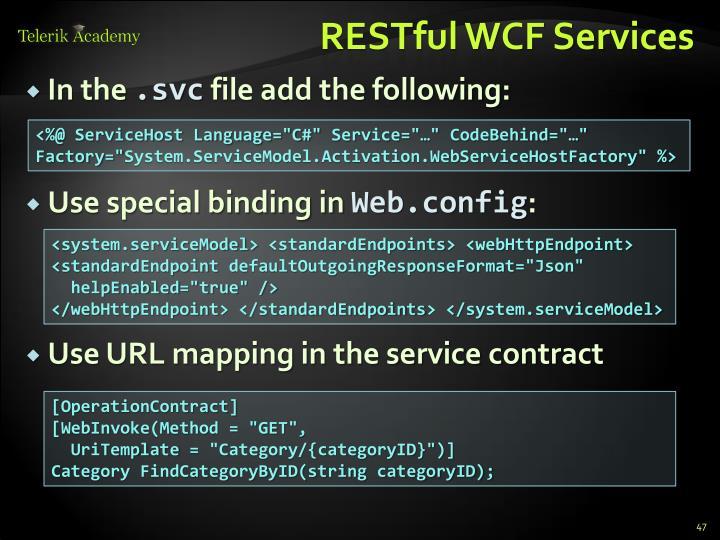RESTful WCF Services