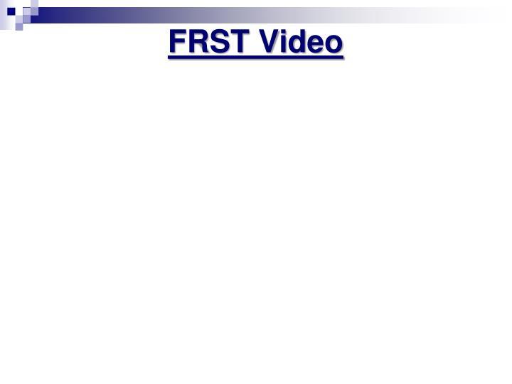 FRST Video