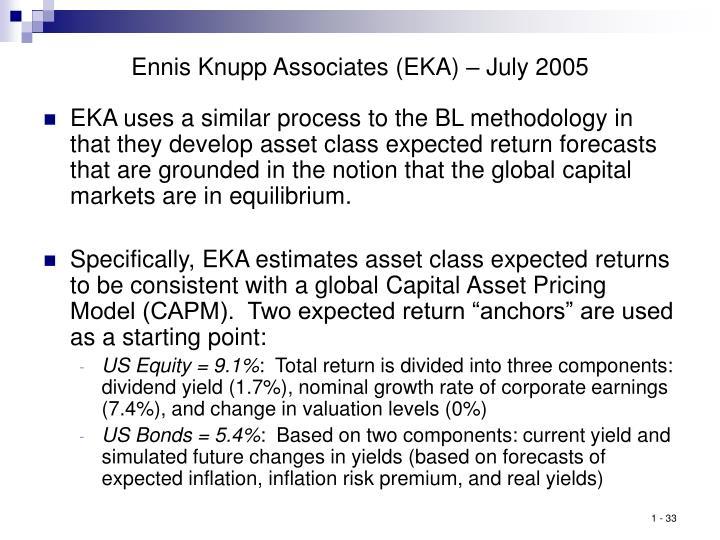 Ennis Knupp Associates (EKA) – July 2005