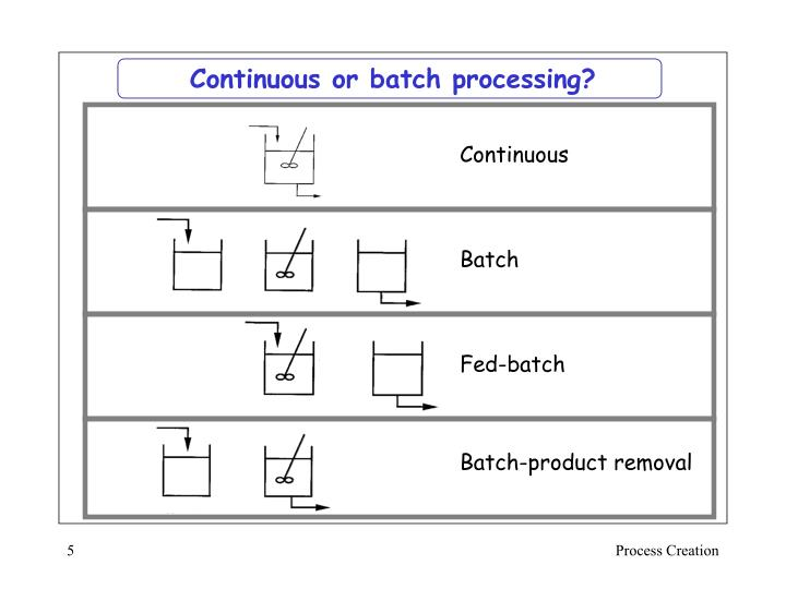 Continuous or batch processing?