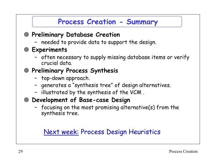 Process Creation - Summary