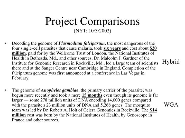 Project Comparisons