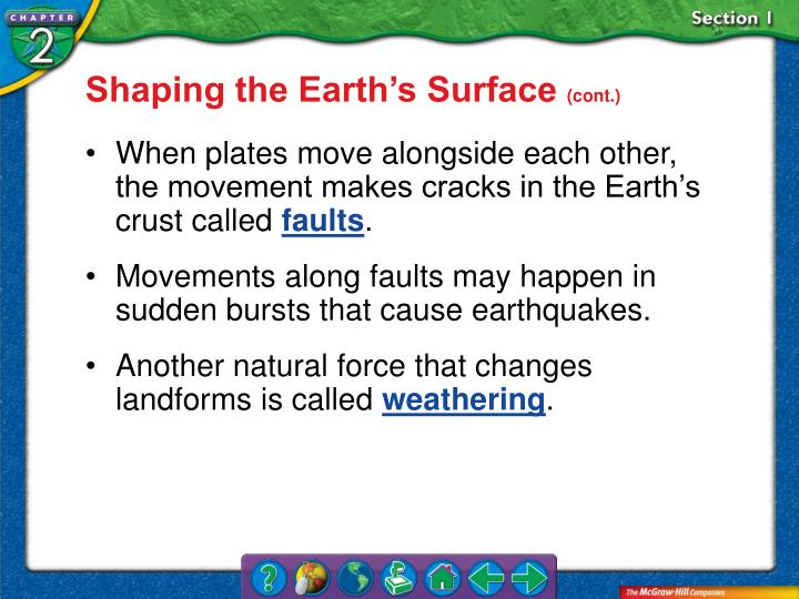 Shaping the Earth's Surface