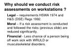 why should we conduct risk assessments on workstations