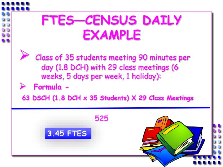 FTES—CENSUS DAILY EXAMPLE