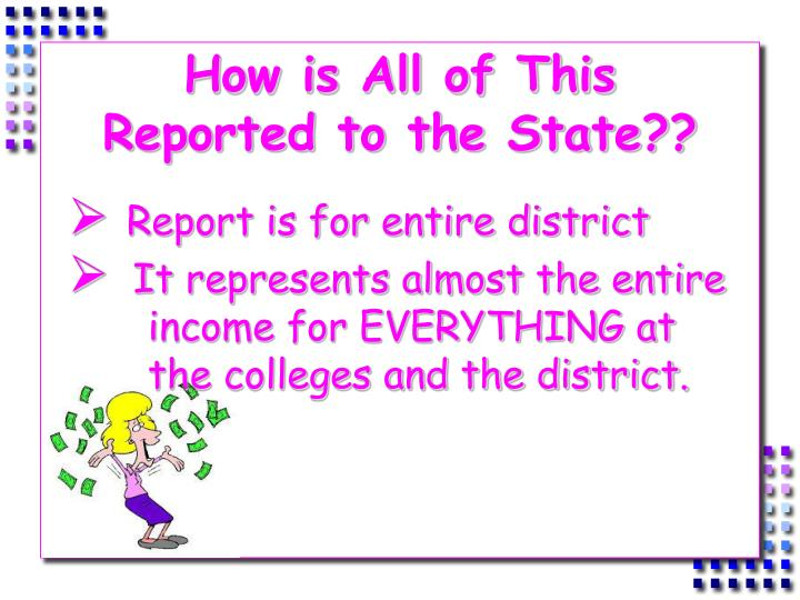 How is All of This Reported to the State??