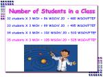 number of students in a class