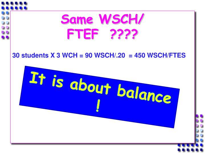 Same WSCH/