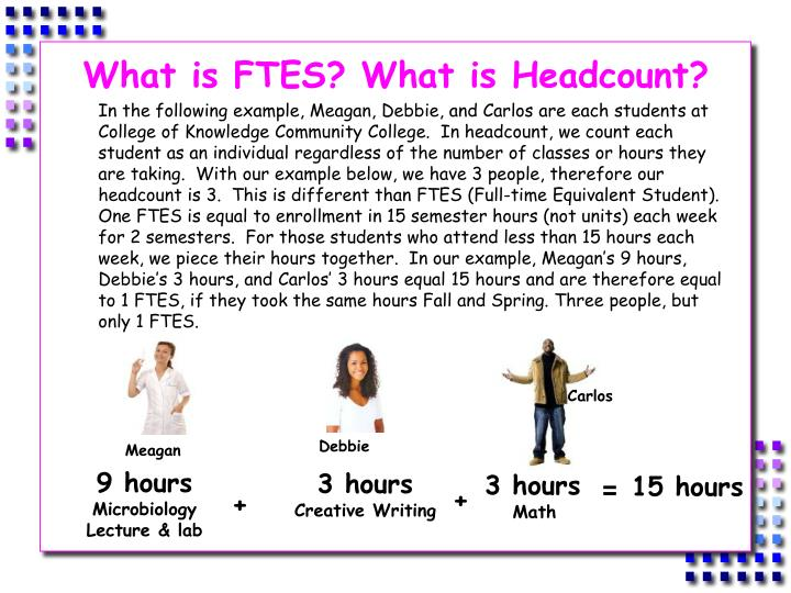 What is FTES? What is Headcount?