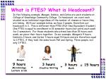 what is ftes what is headcount