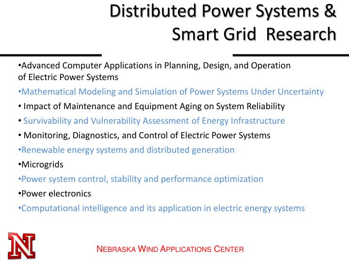 Distributed Power Systems & Smart Grid  Research