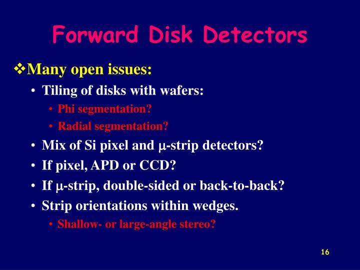 Forward Disk Detectors