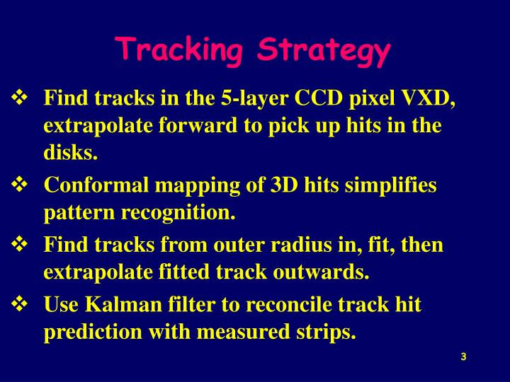 Tracking Strategy