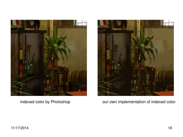 indexed color by Photoshop