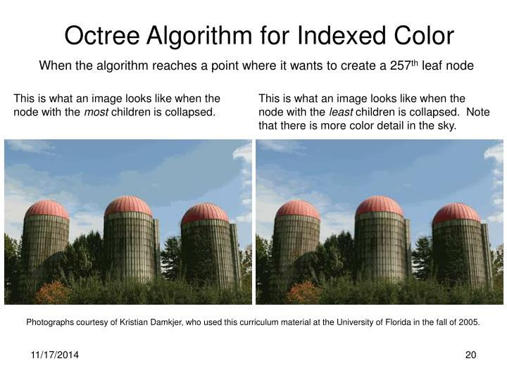 Octree Algorithm for Indexed Color