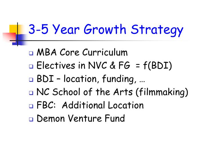 3-5 Year Growth Strategy